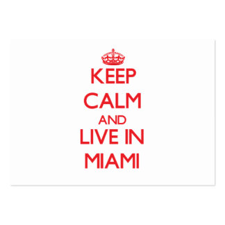 Keep Calm and Live in Miami Business Card Template