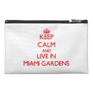 Keep Calm and Live in Miami Gardens Travel Accessory Bags