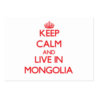 Keep Calm and live in Mongolia Large Business Cards (Pack Of 100)