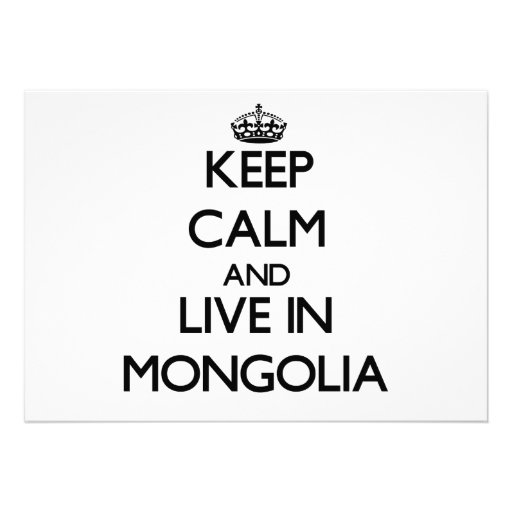 Keep Calm and Live In Mongolia Cards