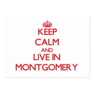 Keep Calm and Live in Montgomery Large Business Cards (Pack Of 100)