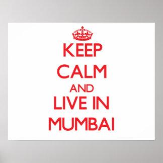 Keep Calm and Live in Mumbai Print