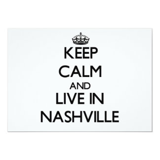 Keep Calm and live in Nashville Personalized Invite