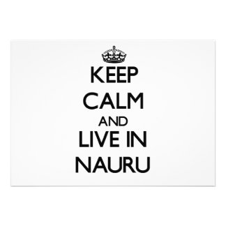 Keep Calm and Live In Nauru Personalized Announcements