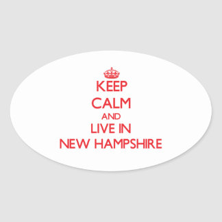 Keep Calm and live in New Hampshire Sticker