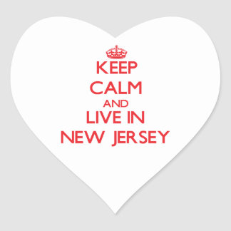 Keep Calm and live in New Jersey Sticker
