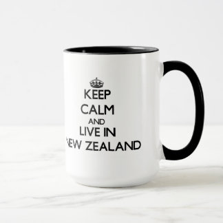 Keep Calm and Live In New Zealand Mug