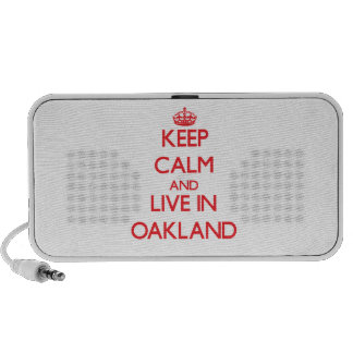 Keep Calm and Live in Oakland Laptop Speakers