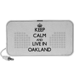 Keep Calm and live in Oakland Mp3 Speakers
