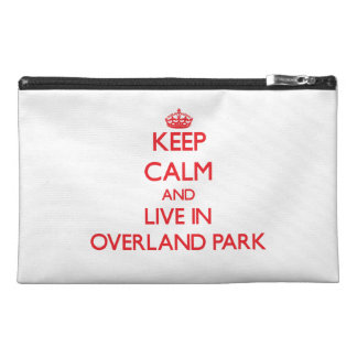 Keep Calm and Live in Overland Park Travel Accessories Bags