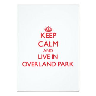 Keep Calm and Live in Overland Park Custom Invitation