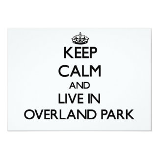 Keep Calm and live in Overland Park Personalized Announcements