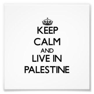 Keep Calm and Live In Palestine Photo Print