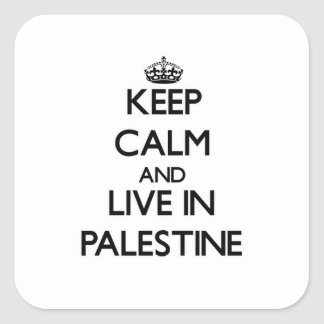 Keep Calm and Live In Palestine Stickers