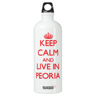 Keep Calm and Live in Peoria SIGG Traveler 1.0L Water Bottle