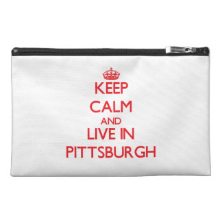 Keep Calm and Live in Pittsburgh Travel Accessories Bags