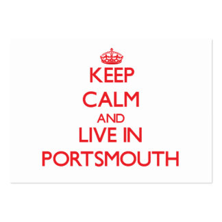 Keep Calm and Live in Portsmouth Business Cards