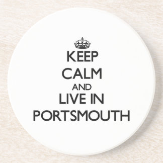 Keep Calm and live in Portsmouth Drink Coaster