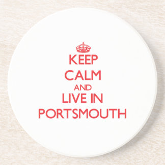 Keep Calm and Live in Portsmouth Coasters
