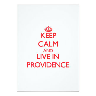 Keep Calm and Live in Providence 5x7 Paper Invitation Card