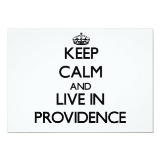 Keep Calm and live in Providence Personalized Invitation