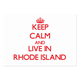 Keep Calm and live in Rhode Island Large Business Cards (Pack Of 100)