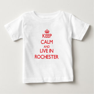Keep Calm and Live in Rochester Tee Shirts