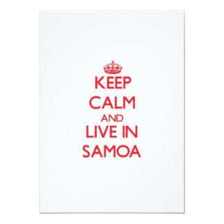"Keep Calm and live in Samoa 5"" X 7"" Invitation Card"