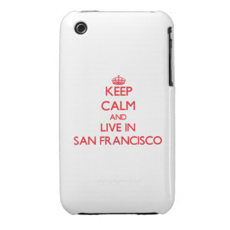 Keep Calm and Live in San Francisco iPhone 3 Cover
