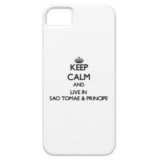 Keep Calm and Live In Sao Tomae & Principe iPhone 5 Covers