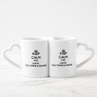 Keep Calm and Live In Sao Tomae & Principe Couples Mug