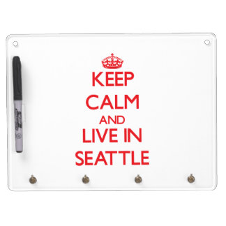 Keep Calm and Live in Seattle Dry Erase Whiteboards