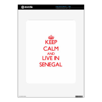 Keep Calm and live in Senegal Decals For The iPad