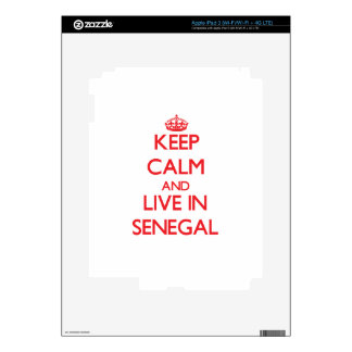 Keep Calm and live in Senegal iPad 3 Decal