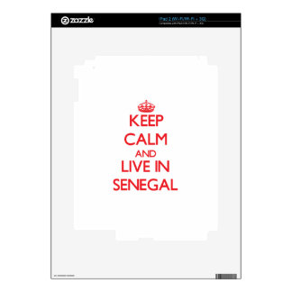 Keep Calm and live in Senegal iPad 2 Decals
