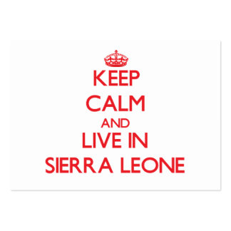 Keep Calm and live in Sierra Leone Business Card Template