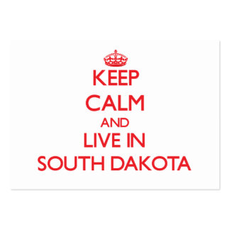 Keep Calm and live in South Dakota Large Business Cards (Pack Of 100)