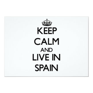 Keep Calm and Live In Spain Custom Announcements