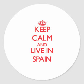 Keep Calm and live in Spain Stickers