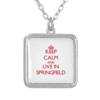 Keep Calm and Live in Springfield Custom Jewelry