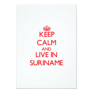 Keep Calm and live in Suriname Custom Invitations