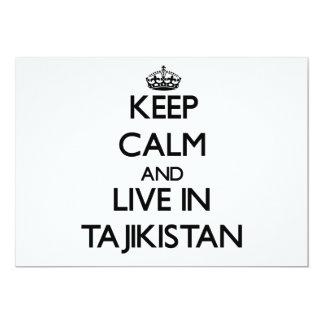 Keep Calm and Live In Tajikistan 5x7 Paper Invitation Card