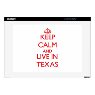 Keep Calm and live in Texas Decals For Laptops