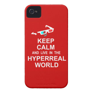 Keep calm and live in the hyperreal world iPhone 4 case