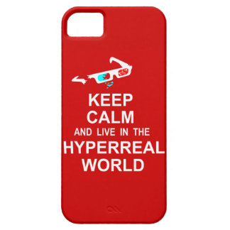 Keep calm and live in the hyperreal world iPhone SE/5/5s case