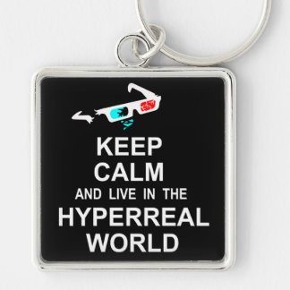 Keep calm and live in the hyperreal world keychain