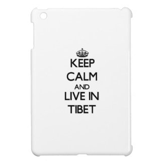 Keep Calm and Live In Tibet iPad Mini Cover