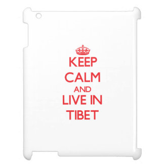 Keep Calm and live in Tibet iPad Case