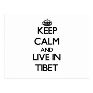 Keep Calm and Live In Tibet Postcard