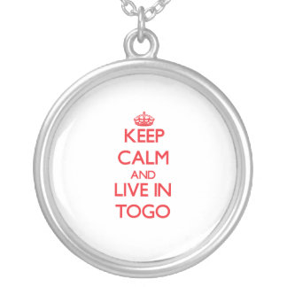 Keep Calm and live in Togo Custom Necklace